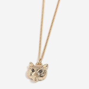New TOPSHOP Fox Ditsy Gold Pendant Necklace